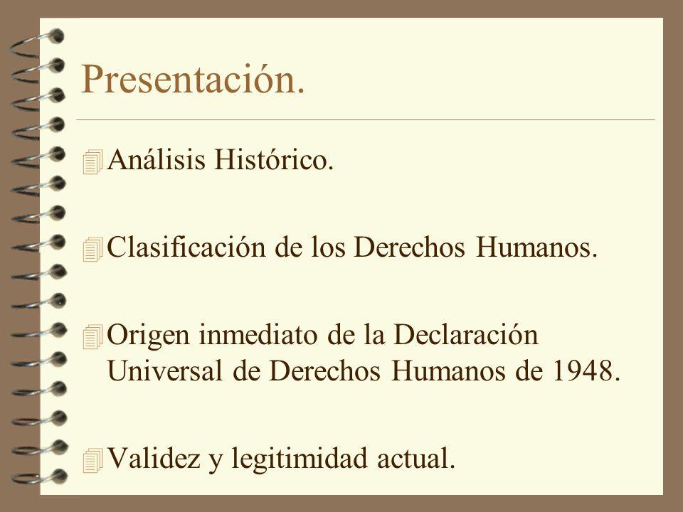 Presentación. Análisis Histórico.