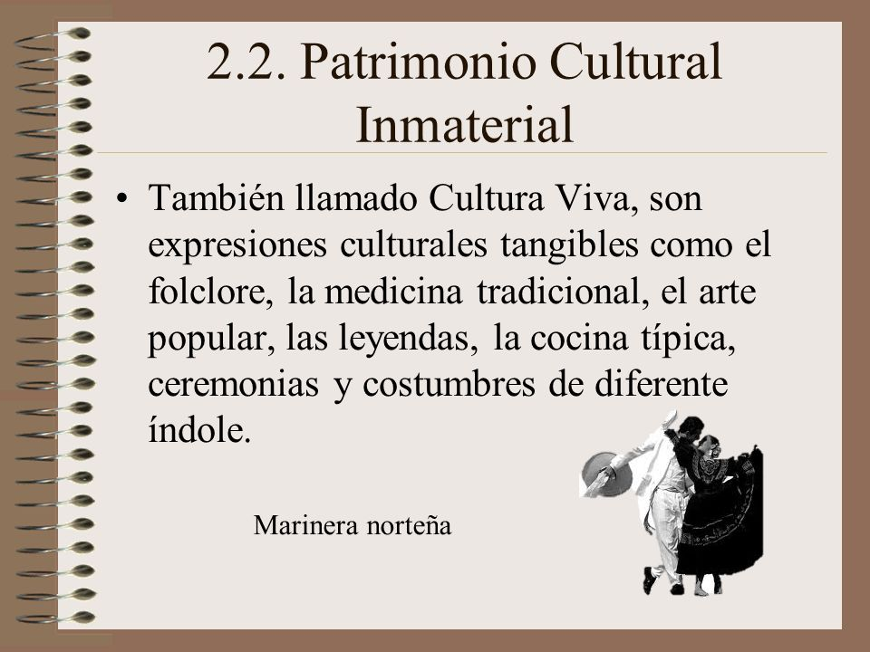 El patrimonio del per ppt descargar for Cocina tradicional definicion
