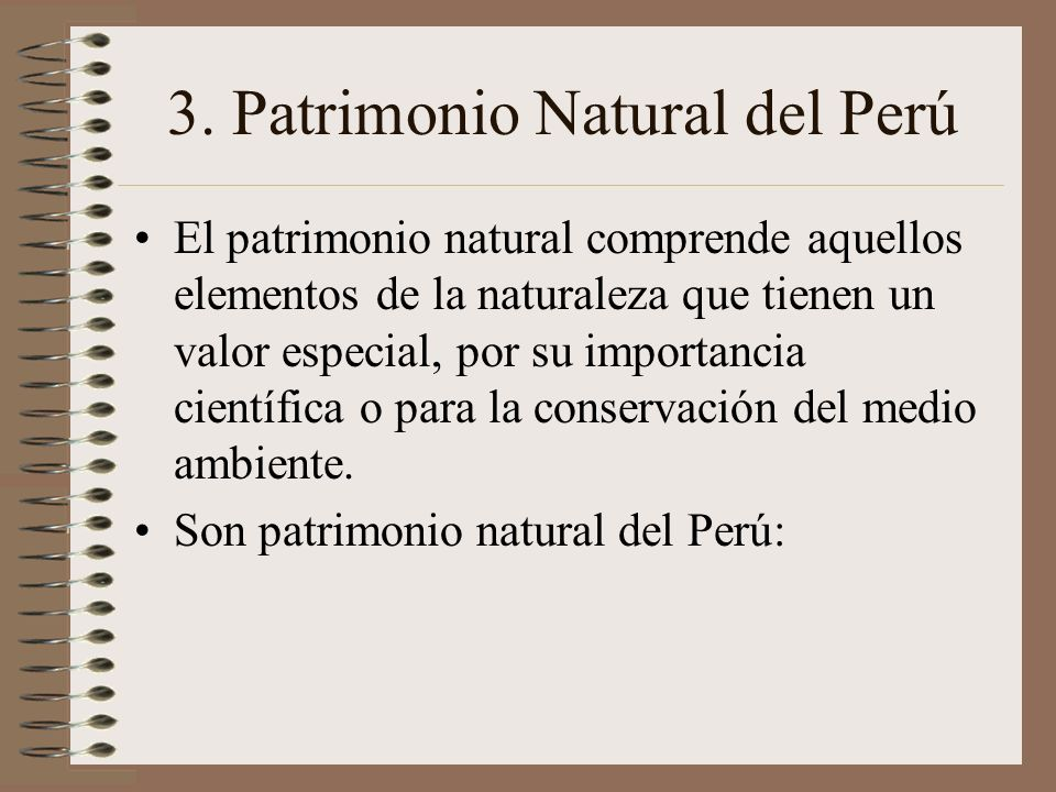 3. Patrimonio Natural del Perú