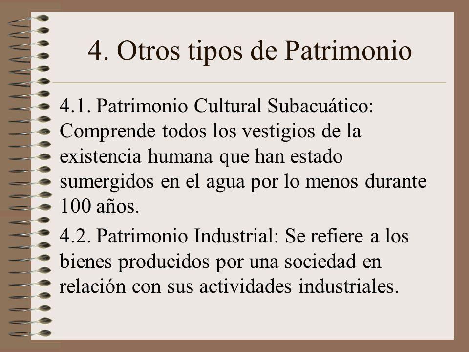 4. Otros tipos de Patrimonio