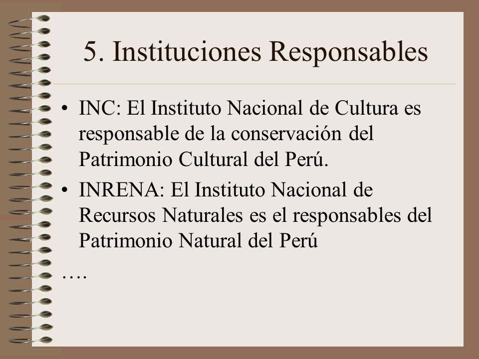 5. Instituciones Responsables