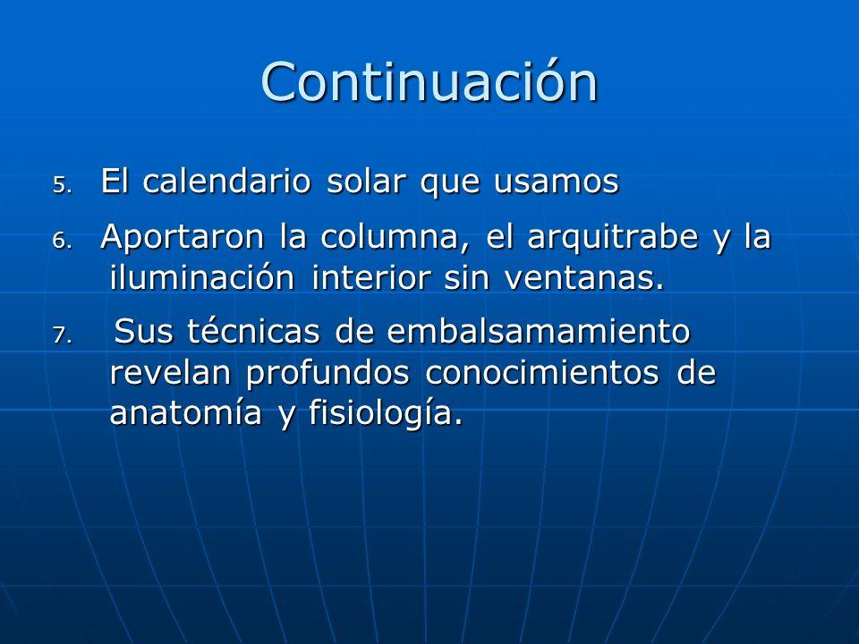 Continuación 5. El calendario solar que usamos