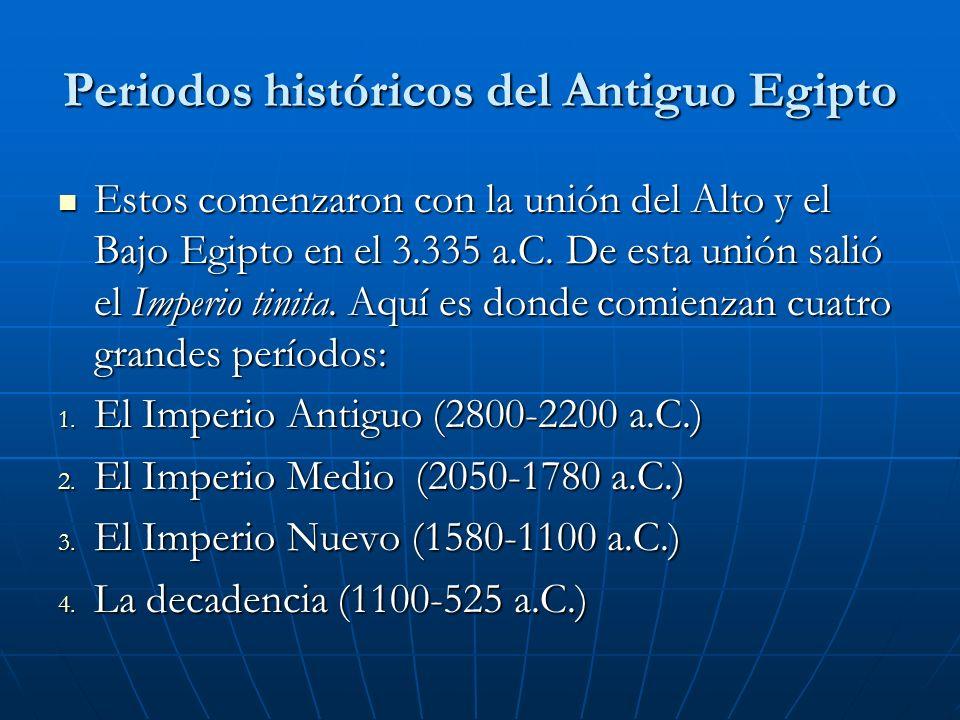 Periodos históricos del Antiguo Egipto