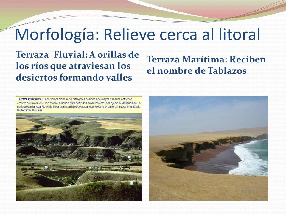 Morfología: Relieve cerca al litoral