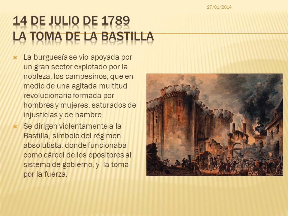 14 de julio de 1789 La Toma de la Bastilla