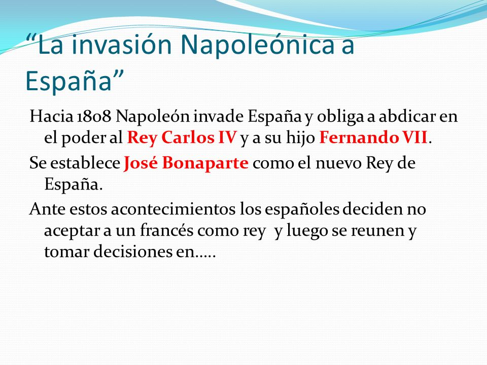 La invasión Napoleónica a España