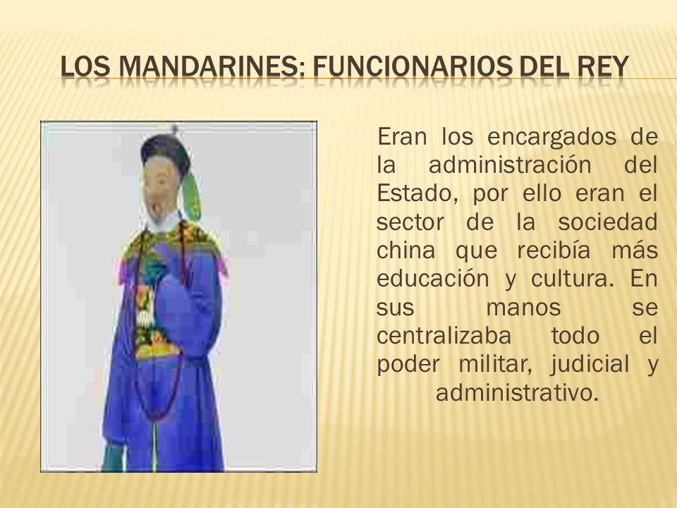 Los mandarines: funcionarios del rey