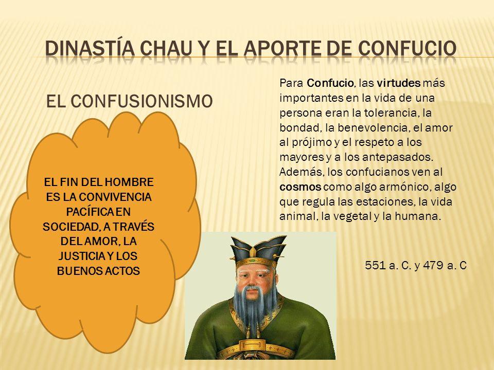 DINASTÍA CHAU Y EL APORTE DE CONFUCIO