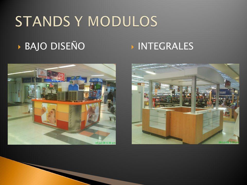 STANDS Y MODULOS BAJO DISEÑO INTEGRALES