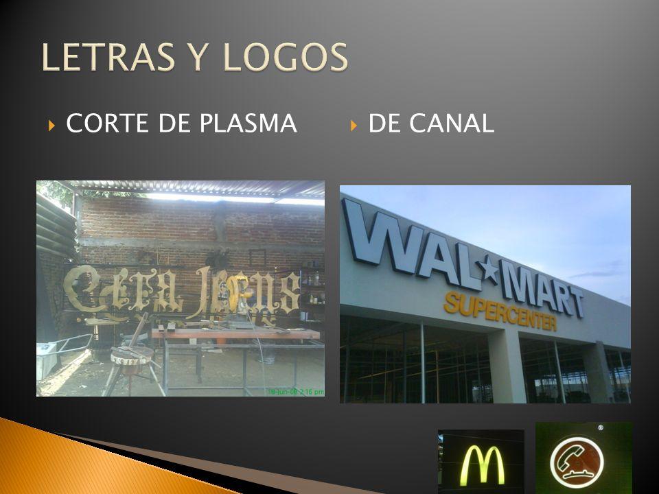 LETRAS Y LOGOS CORTE DE PLASMA DE CANAL