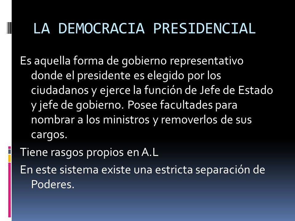 LA DEMOCRACIA PRESIDENCIAL