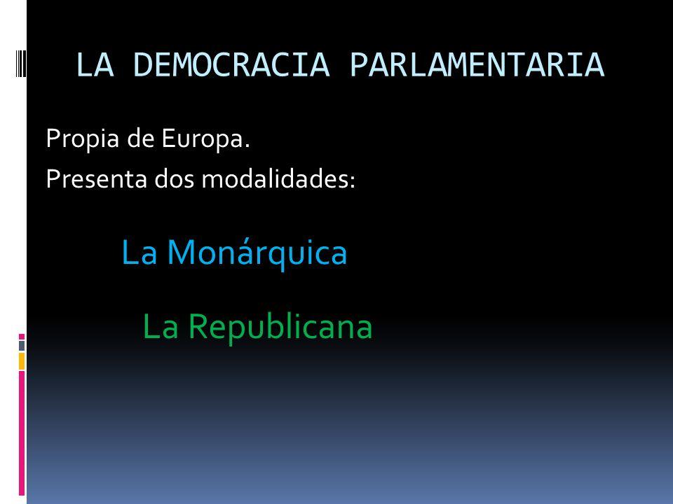 LA DEMOCRACIA PARLAMENTARIA