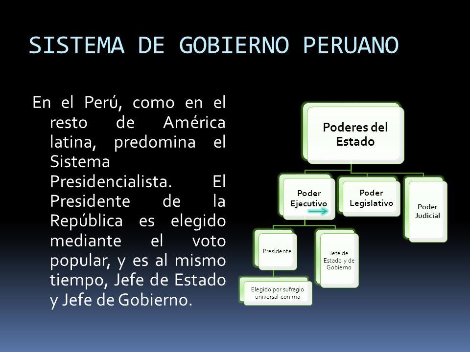 SISTEMA DE GOBIERNO PERUANO