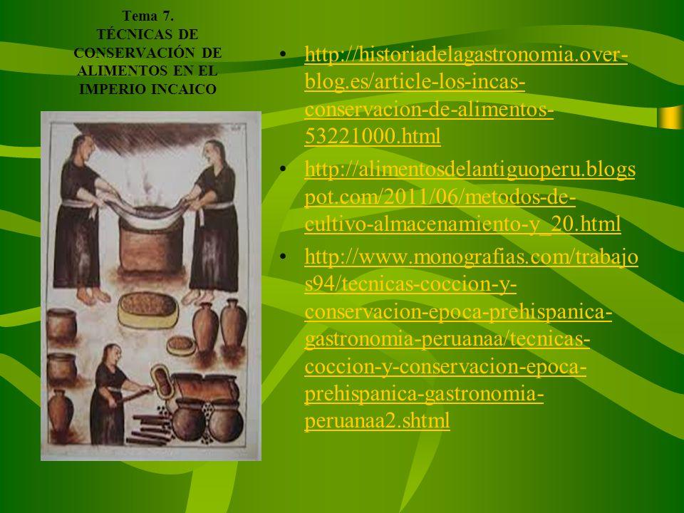 Tema 7. TÉCNICAS DE CONSERVACIÓN DE ALIMENTOS EN EL IMPERIO INCAICO