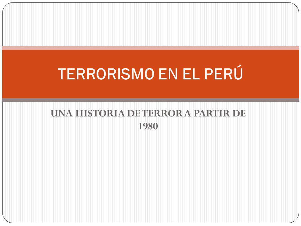 UNA HISTORIA DE TERROR A PARTIR DE 1980