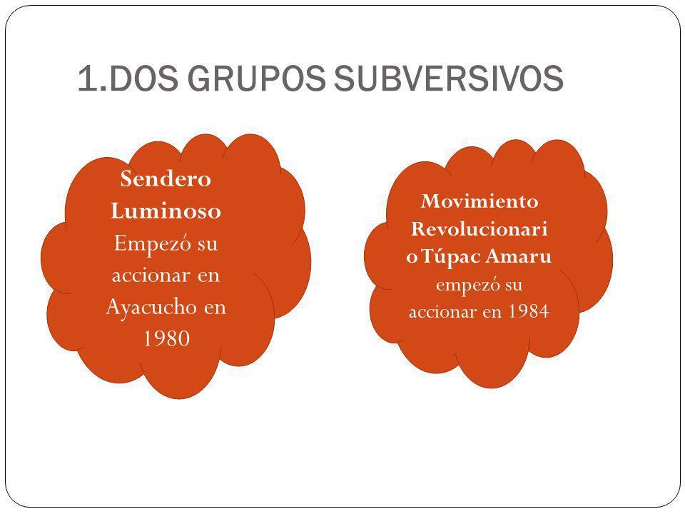 1.DOS GRUPOS SUBVERSIVOS