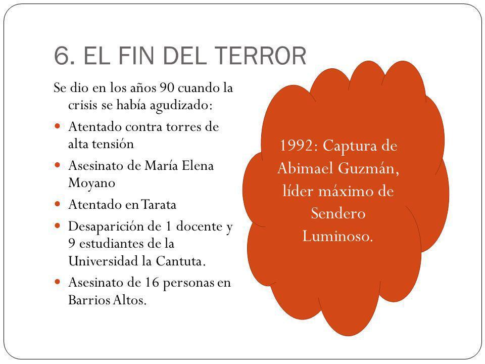 1992: Captura de Abimael Guzmán, líder máximo de Sendero Luminoso.