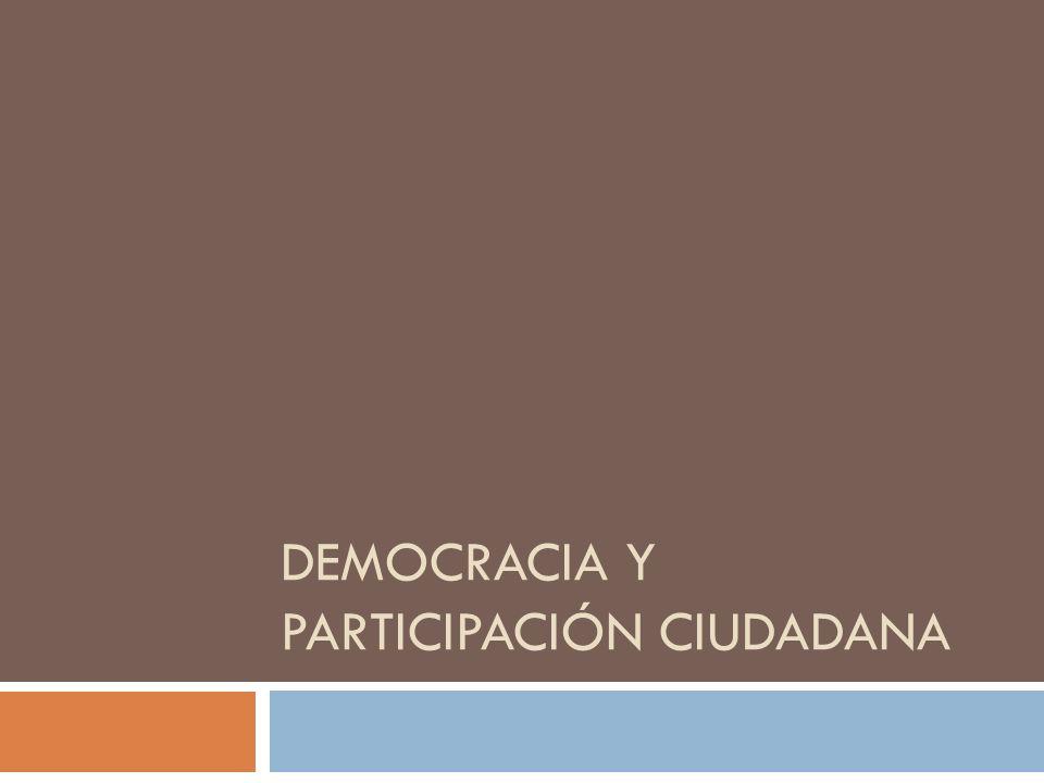 Democracia y Participación Ciudadana