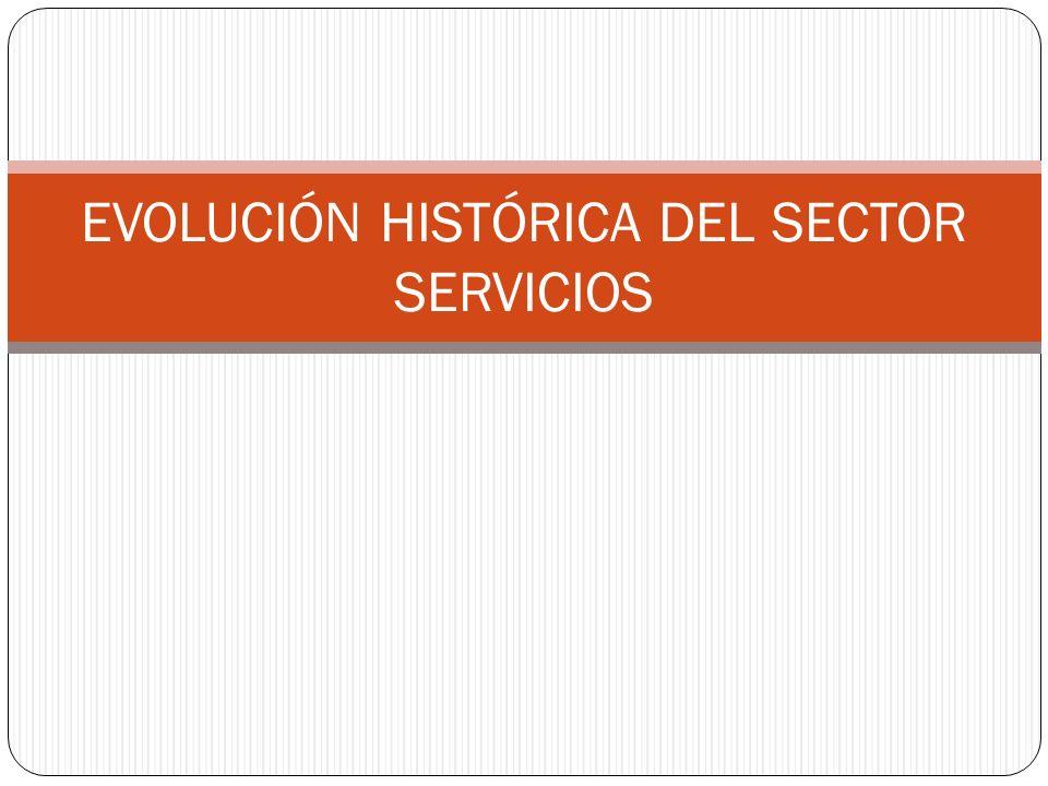 EVOLUCIÓN HISTÓRICA DEL SECTOR SERVICIOS