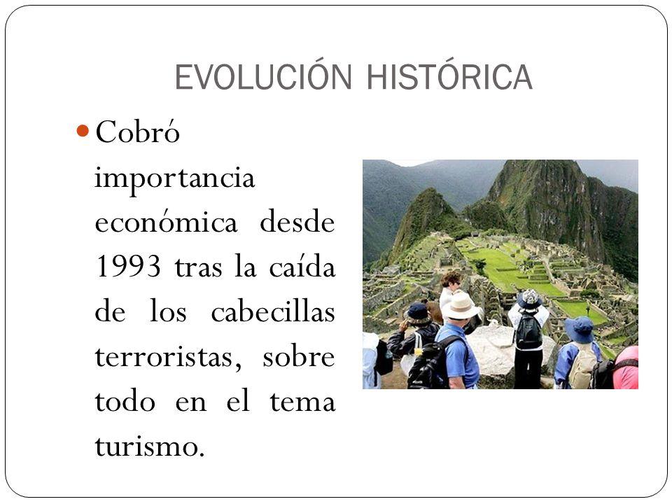 EVOLUCIÓN HISTÓRICACobró importancia económica desde 1993 tras la caída de los cabecillas terroristas, sobre todo en el tema turismo.