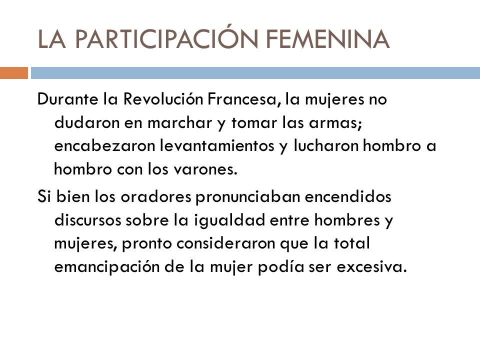 LA PARTICIPACIÓN FEMENINA