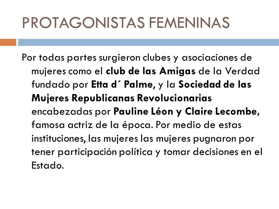 PROTAGONISTAS FEMENINAS
