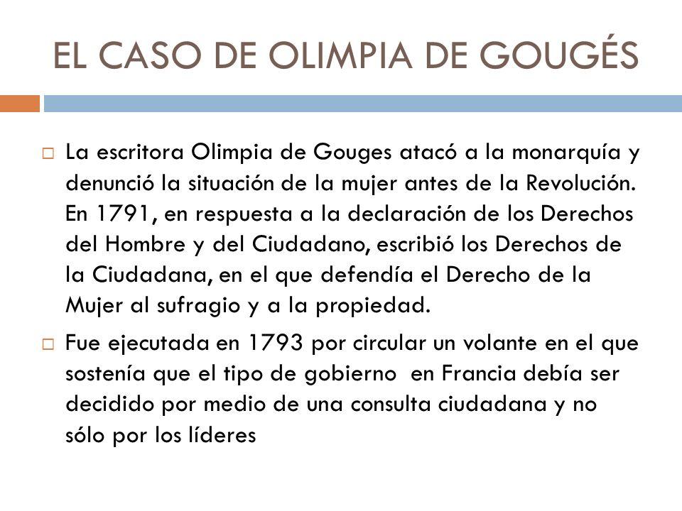 EL CASO DE OLIMPIA DE GOUGÉS