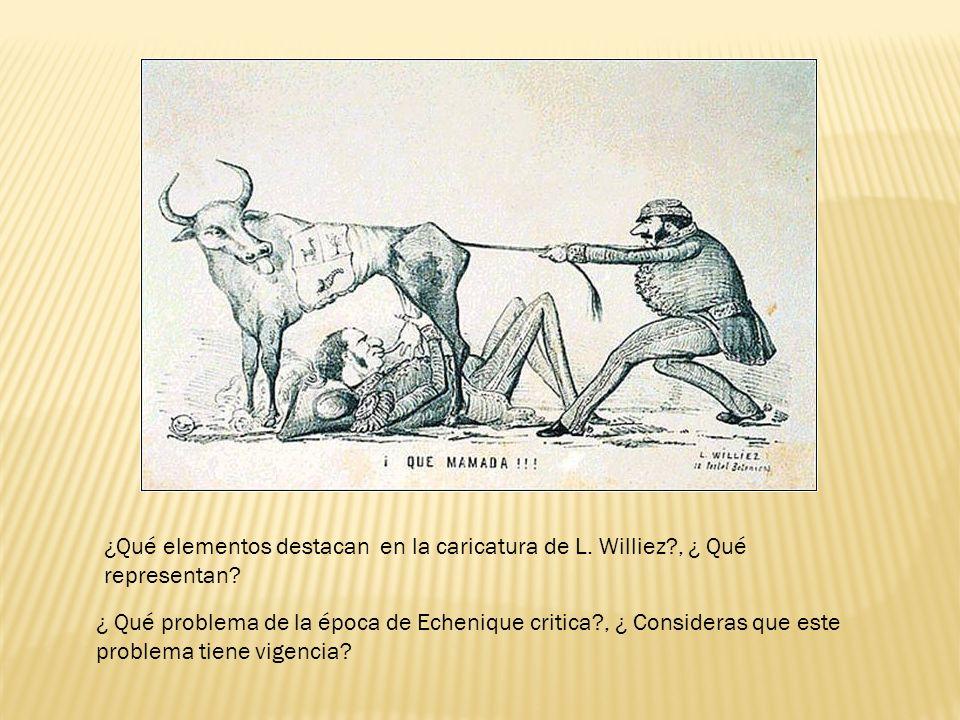 ¿Qué elementos destacan en la caricatura de L. Williez