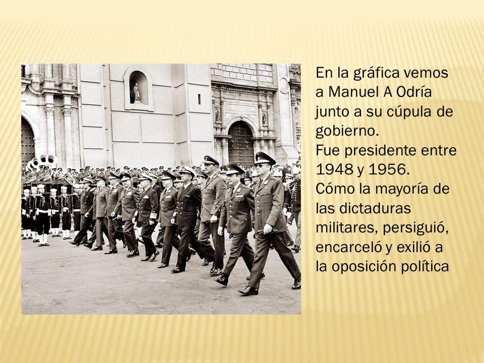 En la gráfica vemos a Manuel A Odría junto a su cúpula de gobierno.