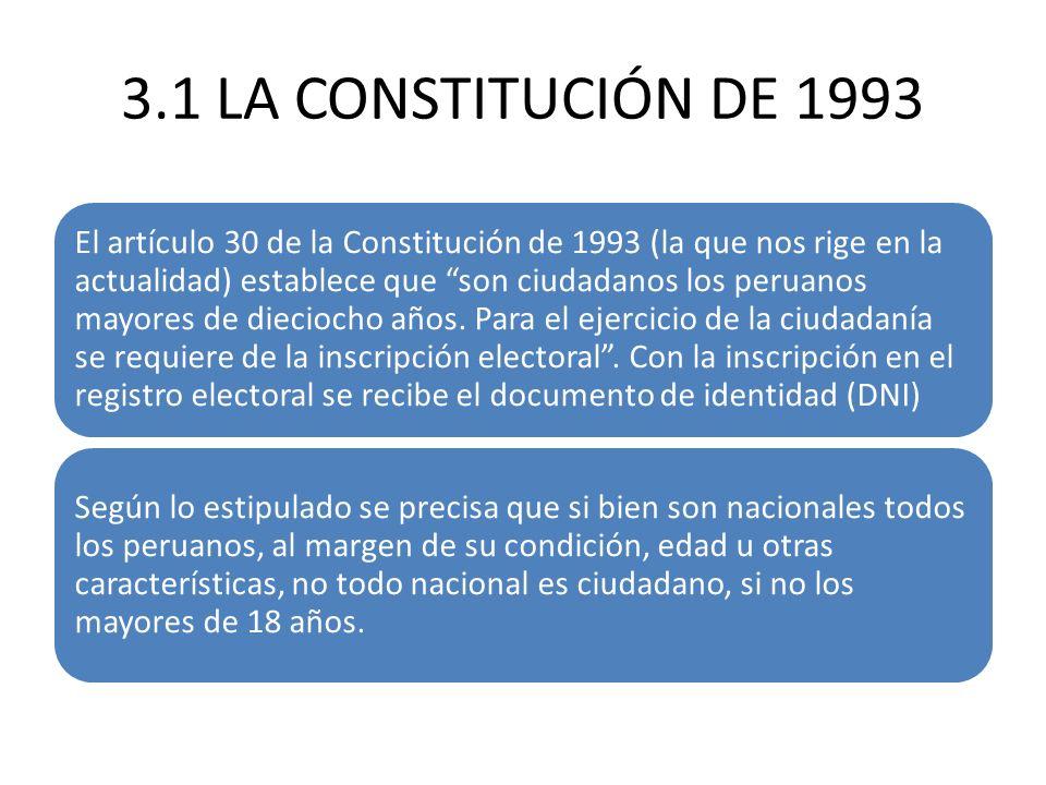 3.1 LA CONSTITUCIÓN DE 1993