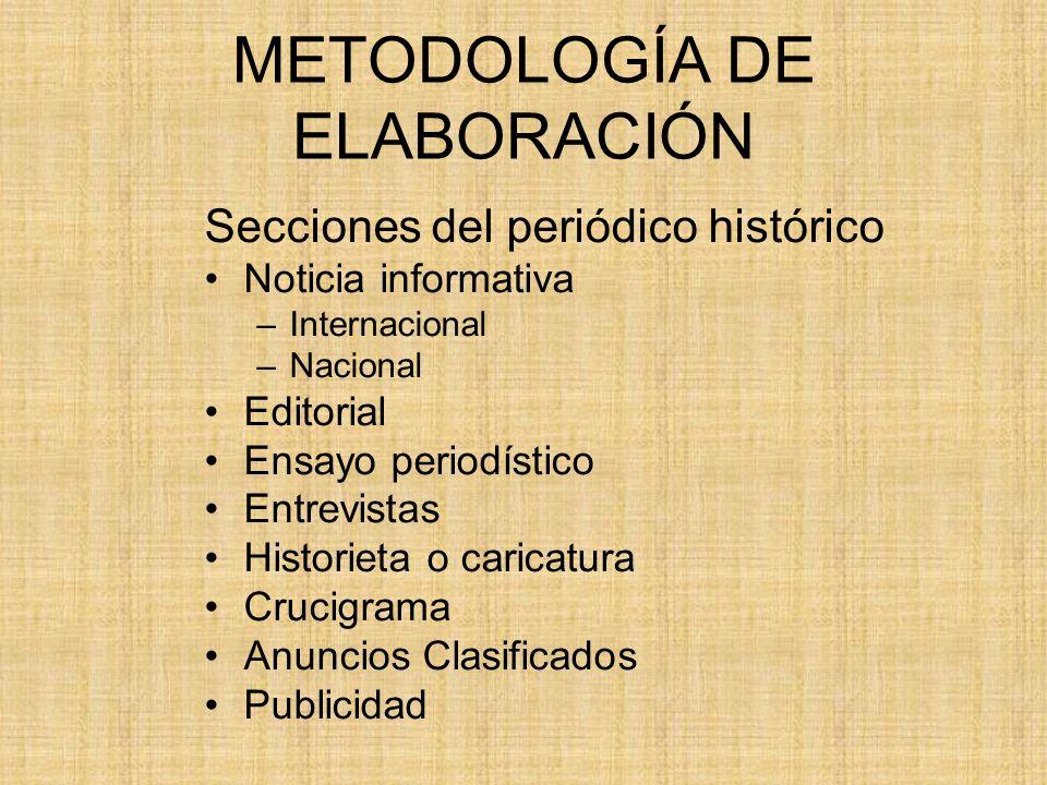 METODOLOGÍA DE ELABORACIÓN