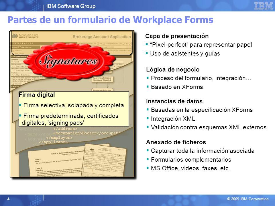 Partes de un formulario de Workplace Forms
