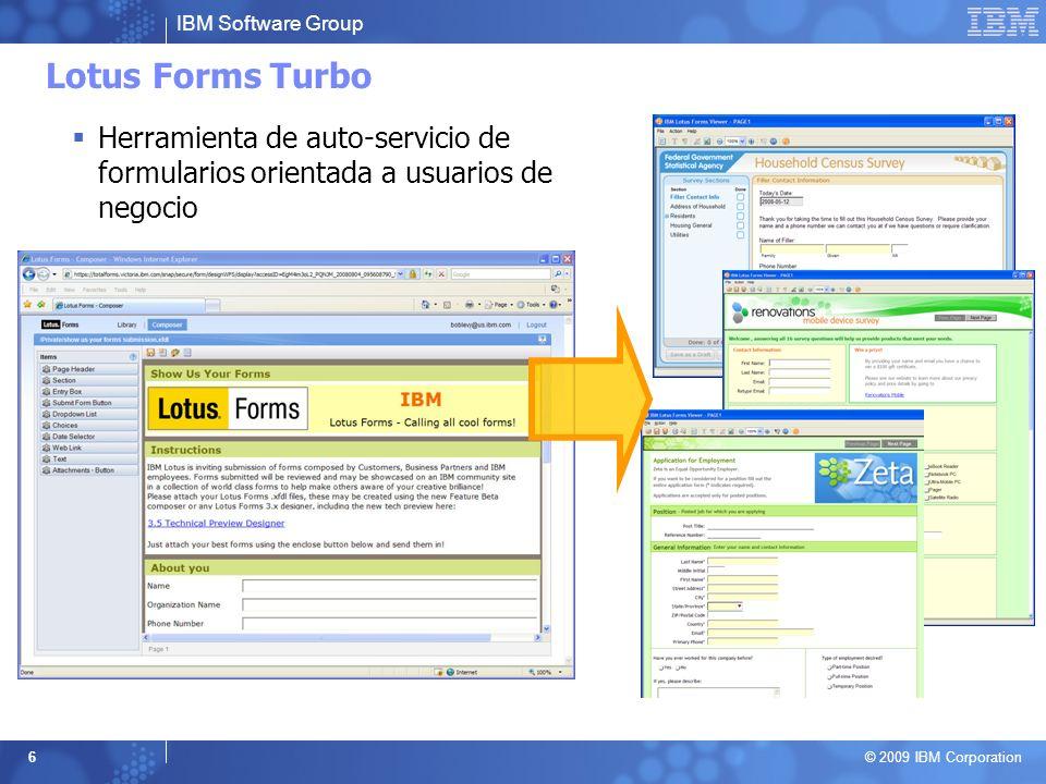 Lotus Forms Turbo Herramienta de auto-servicio de formularios orientada a usuarios de negocio