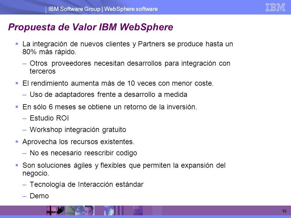 Propuesta de Valor IBM WebSphere