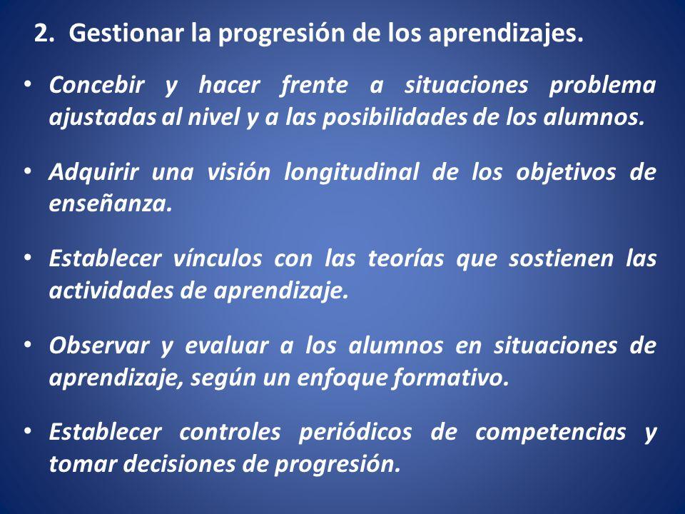 2. Gestionar la progresión de los aprendizajes.