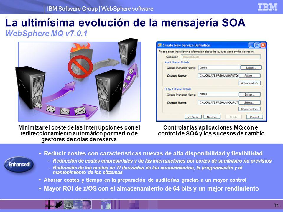 La ultimísima evolución de la mensajería SOA WebSphere MQ v7.0.1