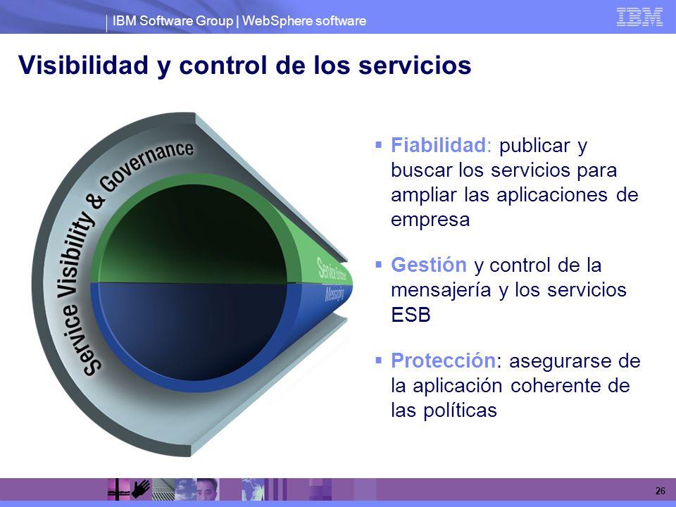 Visibilidad y control de los servicios