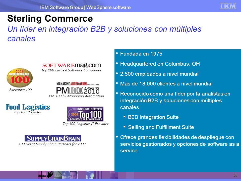 Sterling Commerce Un líder en integración B2B y soluciones con múltiples canales. Fundada en 1975.