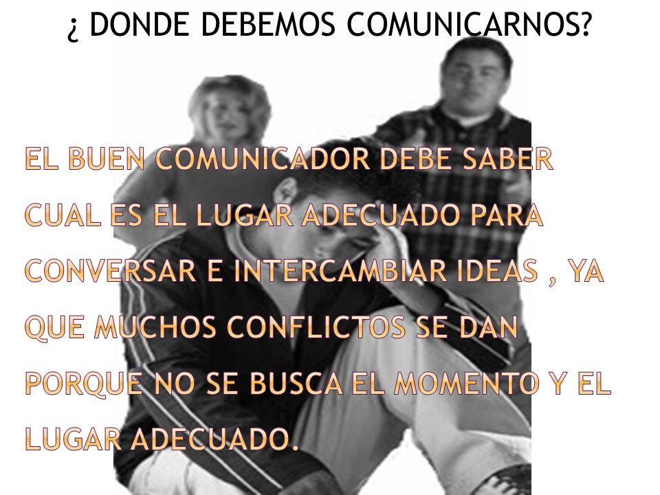 ¿ DONDE DEBEMOS COMUNICARNOS