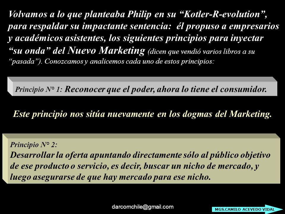 Volvamos a lo que planteaba Philip en su Kotler-R-evolution ,