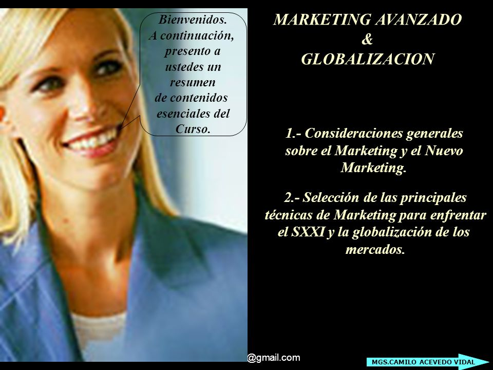 MARKETING AVANZADO & GLOBALIZACION