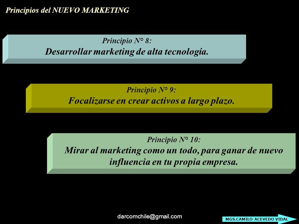 Desarrollar marketing de alta tecnología.