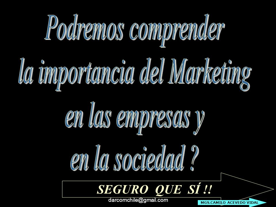 la importancia del Marketing