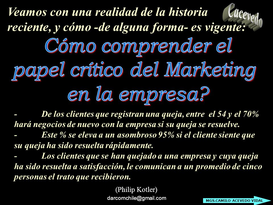papel crítico del Marketing