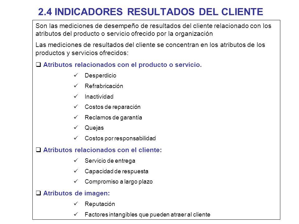 2.4 INDICADORES RESULTADOS DEL CLIENTE