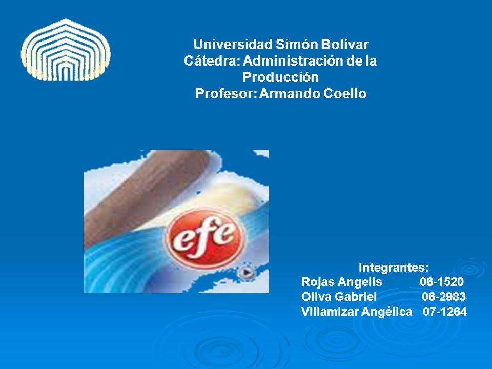 Universidad Simón Bolívar Cátedra: Administración de la Producción Profesor: Armando Coello
