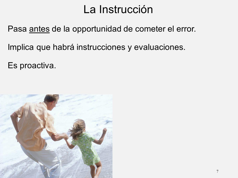 La Instrucción Pasa antes de la opportunidad de cometer el error.