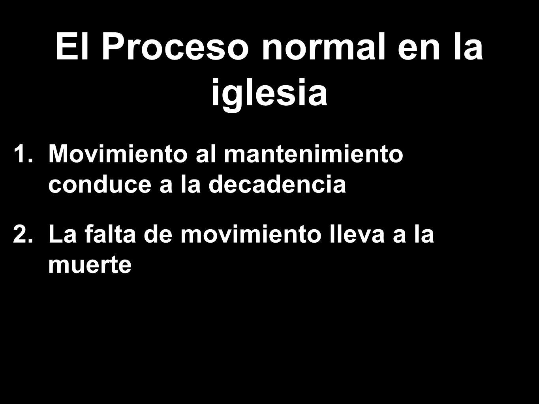 El Proceso normal en la iglesia