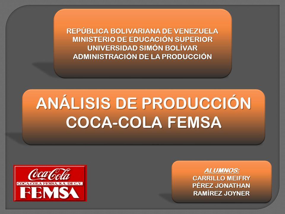 ANÁLISIS DE PRODUCCIÓN COCA-COLA FEMSA