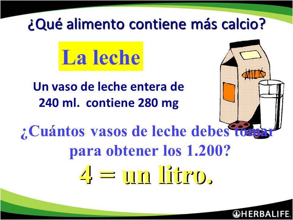 ¿Qué alimento contiene más calcio